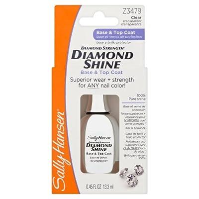 Sally Hansen Diamond Strength Shine Base and Top Coat, 13.3 ml