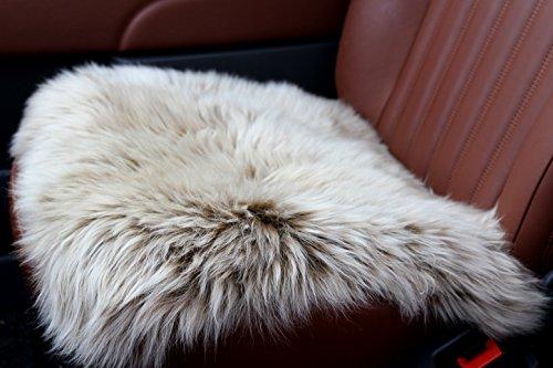 Cuscino in pelliccia di qualità superiore, in vera pelliccia di agnello, comodo per sedersi, non è un coprisedile, traspirante e termoregolatore, per tutto l'anno, per sedile anteriore e posteriore