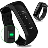 #8: WEARFIT Fitness Tracker Bluetooth Smart Watch Heart Rate Monitor Smart Bracelet Waterproof Pedometer Sport Activity Tracker for Android IOS