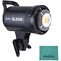 Godox SL-60W 5600K 60W High Power LED-Videoleuchte Drahtlose Fernbedienung mit Bowens Halterung f¨¹r Fotostudio Fotografie Video Recording White Version