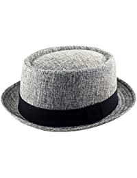 5e0a5c41266 Adult Pork Pie Trilby Fedora Jute Hessian Feel Hat Band Unisex (Breaking  Bad Heisenberg Style