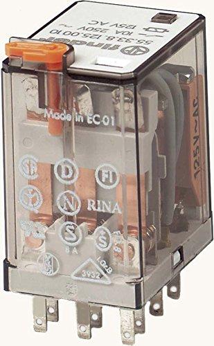 Finder Serie 55–RELE Industrial 12VAC 3Kontakte 10A Taster Test