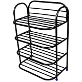 Ebee 4 Layer Black Shoe Rack