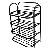 #1: Ebee 4 Layer Black Shoe Rack