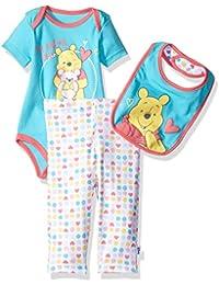 Disney Baby Girls Winnie the Pooh 3-Piece Bodysuit
