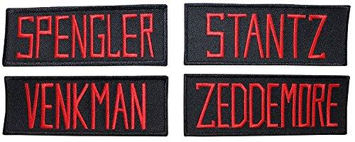 MemelBurg Ghostbusters Namensschild bestickte Patches (4er Set)