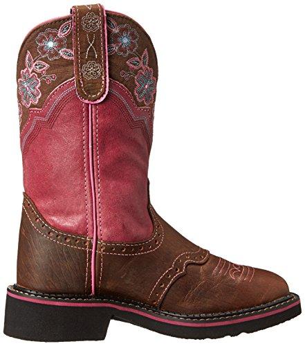 Justin Boots Stiefel L9955 Braun Damen Westernreitstiefel Brown Pink