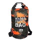 Sacca Impermeabili Borsa Waterproof Borse Impermeabili Dry Bag con Tracolla Regolabile, Una Spalla o Alle Spalle, per Attività all'Aperto e Sport d'Acqua (arancione, 30L)