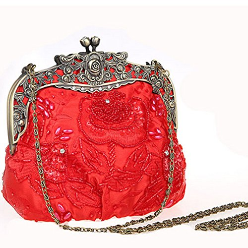 Belsen, Borsa a spalla donna rosso Red Taglia unica Red