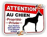 Sticker Attention au Chien Autocollant Chien Méchant Garde Chass003...