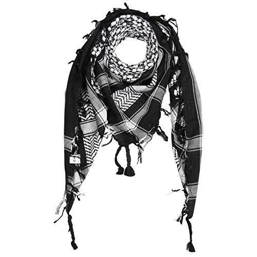 Superfreak Palituch - schwarz - weiß - 100x100 cm - Pali Palästinenser Arafat Tuch - 100{73ebbeea0a67cfb33c65cfd4e977de6e7b206ebd2dd5b9fdf49355ec22a2a46d} Baumwolle