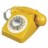 retro telephone 746 in english mustard