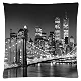 astilnet New York City Print Sofa Home Decor Design Werfen Kissen Fall Kissen quadratisch 45,7 cm