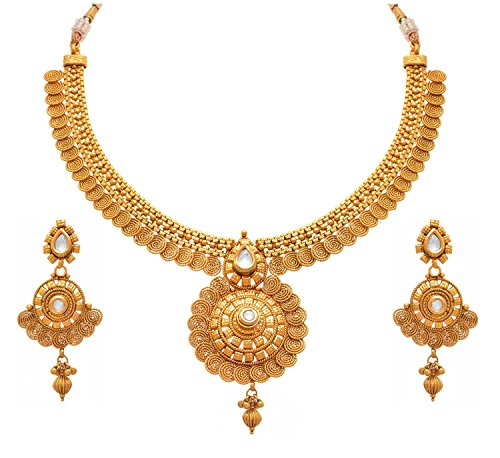 Meenaz Jewellery Traditional One gram Wedding Bridal Sarees Kundan Pearl party wear...