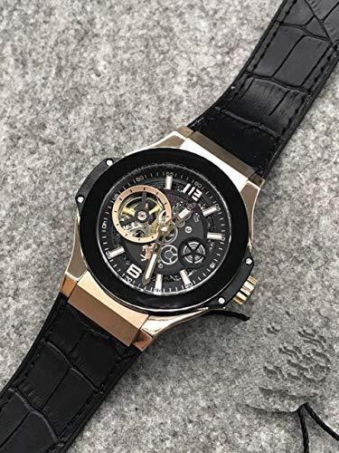 DMSGBZL Neue herrenuhr Silber schwarz grau Titanium braun Leder automatische mechanische Saphir Uhren wasserdicht 5