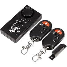 Alarma de seguridad BW de contacto, con sensor magnético para puertas y ventanas para el hogar (2mandos a distancia), con sirena