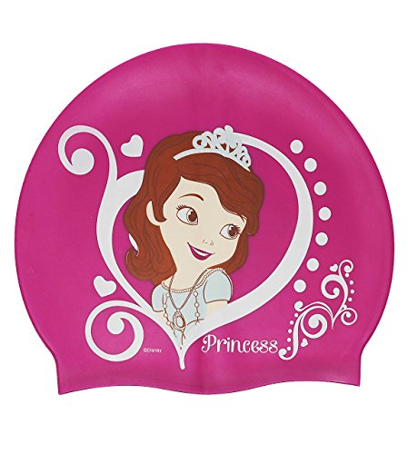 """Badekappe / Badehaube _ wasserdicht _ """" Disney Sofia die Erste - auf einmal Prinzessin """" - Silikon - 3 bis 7 Jahre - Kinder - Schwimmhaube - Duschkappe / Duschhaube - Bademütze - für Mädchen - the First - Schwimmkappe rosa pink Prinzessinnen - Schwimmmütze"""