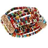 Sharplace Buntes Perlen Armband Handgelenk Buddha Kugel Perle Perlen Elastische Armkette für Herren Damen