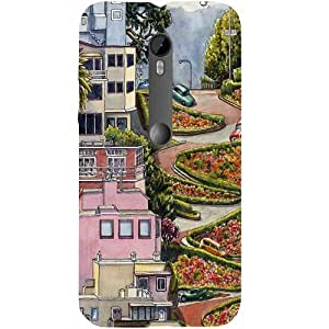 Casotec Lombard Street Design Hard Back Case Cover for Motorola Moto G 3rd Generation
