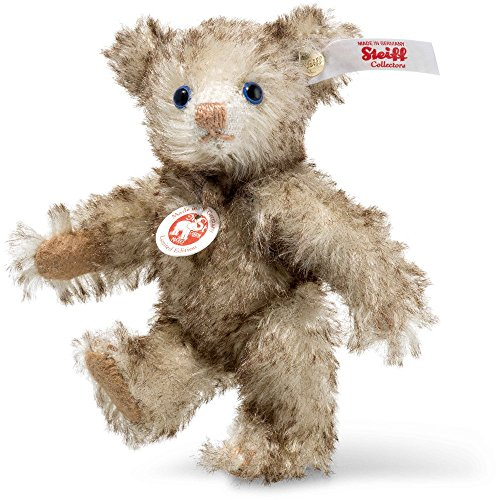 Steiff 006685 Petsy Mini Teddybär Mohair braun gespitzt 10 CM