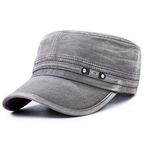Koreanische Version der abgeflachten Hut/Outdoor-Mode Freizeit Sport Hüte/Military Cap/ Frühling und Herbst der Cowboy-Hut/Herren Cap-A (Französisch Für Männer Kostüm Maid)