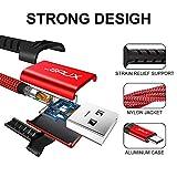 Micro USB Kabel [2M 2 Pack], JSAUX Nylon Ladekabel für Samsung, Kindle usw (Rot) Test