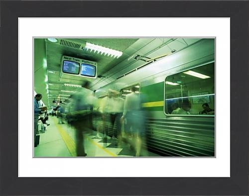 framed-print-of-passengers-boarding-train-at-parliament-station-in-the-city-of-melbourne