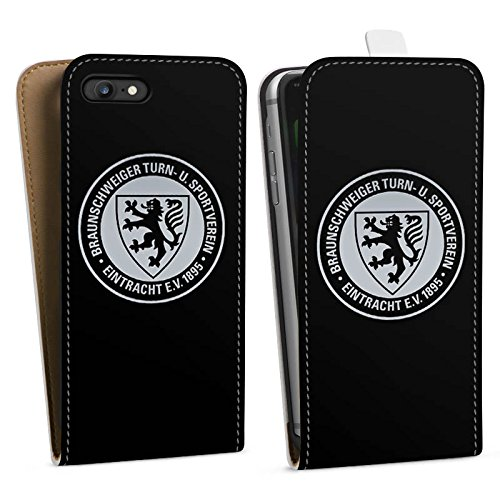 Apple iPhone 7 Hülle Case Handyhülle Eintracht Braunschweig Fanartikel BTSV Fußball Downflip Tasche weiß