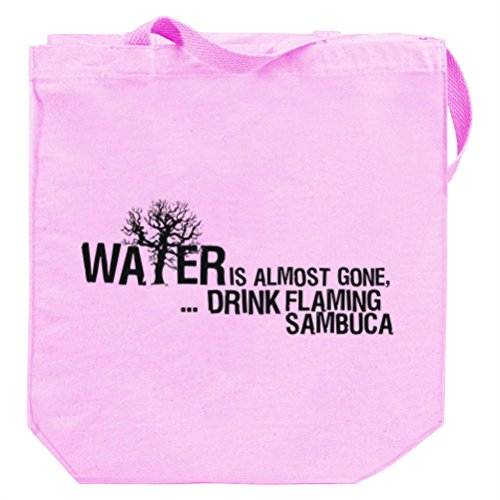 Water is almost gone drink Flaming Sambuca Canvas Tote Bag