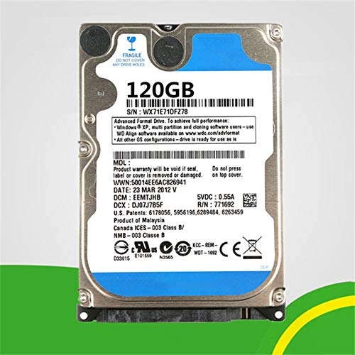 "XiuFen PC Hard Drive HDD 5400rpm Cache SATA 2.5"" Laptop Hard Drive 120GB"