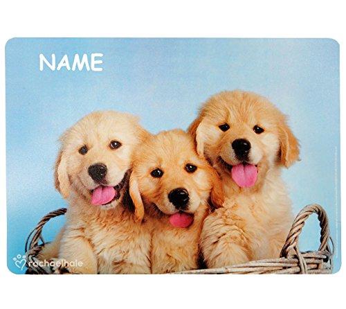 alles-meine.de GmbH Hund / Welpen  - Platzdeckchen & Unterlage - 43 cm * 30 cm - incl. Name - Eßunterlage -  Rachael Hale  / Mal & Bastel & Knet - Unterlagen - Platzset - Ti..