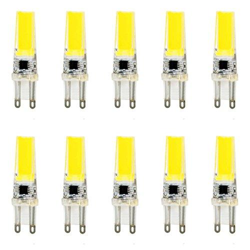 MONHE 10 Pack AC220v G9 Dimmbar Halogenlampe 5W , 300 Lumen Energiesparend In Der Kühlen Birne ,360º Abstrahlwinkel, Farbwiedergabeindex: 80 Ra