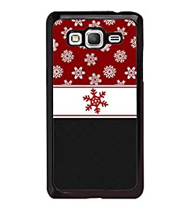 Fuson Red Flower Fashionable Designer Back Case Cover for Samsung Galaxy Grand Prime :: Samsung Galaxy Grand Prime Duos :: Samsung Galaxy Grand Prime G530F G530Fz G530Y G530H G530Fz/Ds (Ethnic Pattern Patterns Floral Decorative Abstact Love Lovely Beauty)