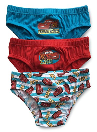 Image of Boys Disney Pixar Cars - Multi - Briefs Pants Underpants Underwear Slips - 3 Pack - Official Licenced 100% Cotton - 2 - 8 Years