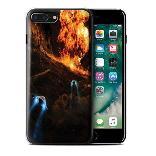 Offiziell Chris Cold Hülle / Case für Apple iPhone 7 Plus / Zerbrochenen Mond Muster / Fremden Welt Kosmos Kollektion Chaos Entfesselt