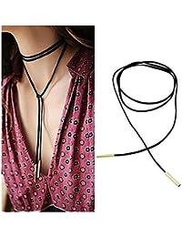 dgzls piel sintética de terciopelo negro cadena collar gargantilla de tatuaje elástico elástico de la borla collares
