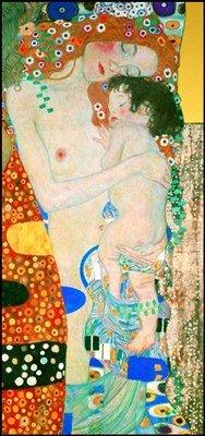 quadri & cornici HB - Klimt ' Le tre età della Donna ' quadro,stampa su legno, poster su legno, bordo nero