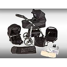 Ferriley & Fitz Daytona cochecito Set–Año (saco, sombrilla, asiento auto & Adaptadores, la lluvia, mosquitera, ruedas pivotantes, porte-gobelets)