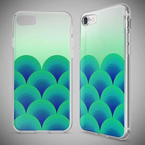 iPhone 8 / 7 Hülle Handyhülle von NICA, Slim Silikon Motiv Case Crystal Schutz Dünn Durchsichtig, Etui Handy-Tasche Back-Cover Transparent Bumper für Apple iPhone 7 / 8 - Transparent Green Forest