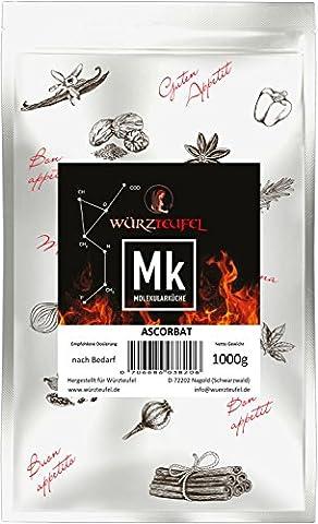 Ascorbat, Vitamin C magenfreundlich gepuffert, Antioxidationsmittel E301. 100% rein, natürlich. Beutel 1000g. (1KG)