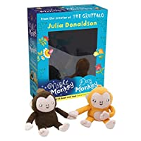 Night Monkey Day Monkey Books & Plush Set (Book & Toy)