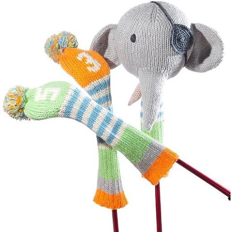 Golf Club Cover Set - Pirate Elephant