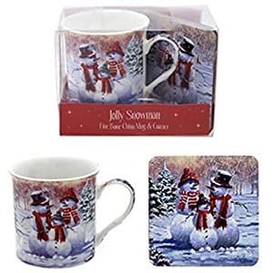 The Snowman Family Mug with Coaster Gift Pack