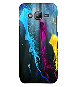 ColourCraft Colourful Kites Design Back Case Cover for SAMSUNG GALAXY J2 DUOS