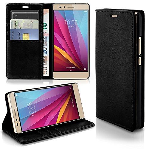 Caso casual per il Huawei Honor 5X | caso conveniente con slot per schede e la funzione del basamento | Sacchetto di protezione di custodia OneFlow | Copertura di vibrazione in Onyx