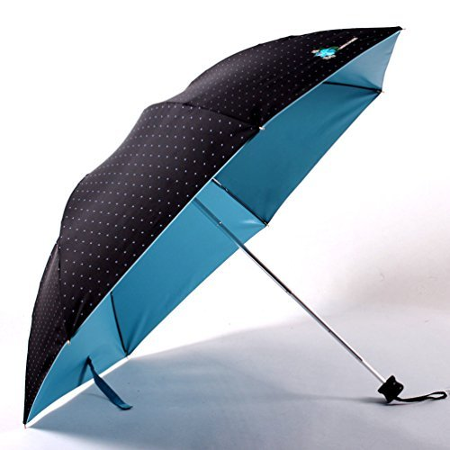 migobi Ultraligero plegable 40cm), diseño de lunares, paraguas de sol/lluvia UPF50+ Anti UV Sombrilla Azul azul (Sky Blue)
