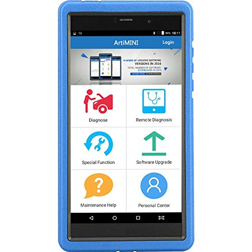 TOPDON artimini Auto Diagnosegerät Android basierend 17cm Tragbar All-Systems OBDII Scanner mit DPF/ABS Bleeding/SAS/SRS Öl-Reset/EPB/Immo 11speziellen Funktionen, Bluetooth und WI-Fi-Fähige