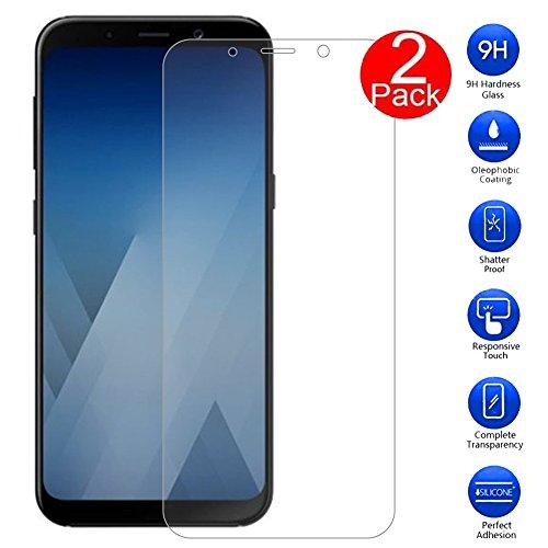 MaxKu Samsung Galaxy A3 2018 Panzerglas Schutzfolie, [2 Stück] Glasfolie Hartglas 9H Hardness Panzerglas Bildschirmschutz Anti-Kratz Bildschirmschutz für Samsung Galaxy A3 2018