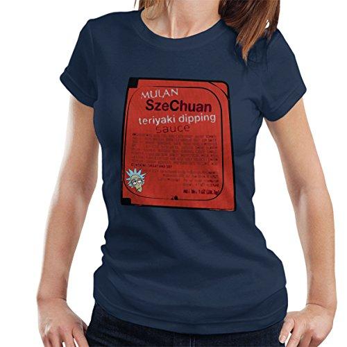 Mulan Szechuan Dipping Sauce Rick And Morty Women's T-Shirt Navy Blue