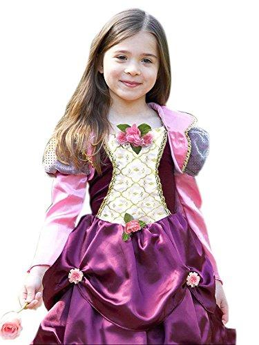 en Prinzessin Kostüm, Karneval, Fasching, Halloween, Lila, Größe 98-110, 3-5 Jahre (Prinzessin Jasmin Kostüm Lila)